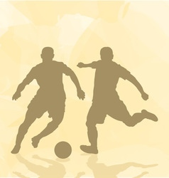 Two football players on an abstract background vector