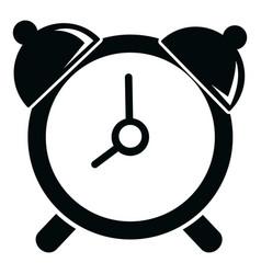 alarm clock icon simple black style vector image vector image