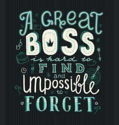 Boss day lettering vector