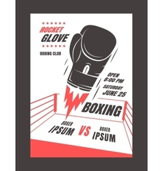 Boxing championship poster vector