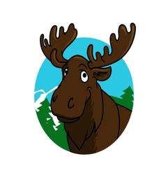 Cartoon moose or elk vector