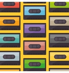 cassette music old pattern vector image