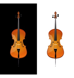 Cello in realistic style vector image vector image