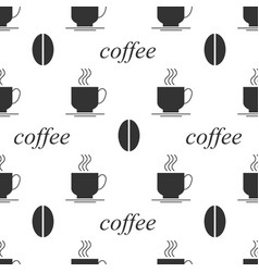 Coffee bean seamless background vector