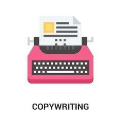 Copywriting icon concept vector