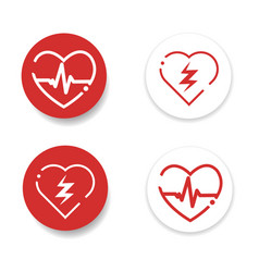 Defibrillator icons set vector