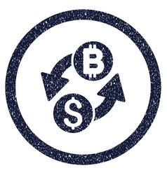 Dollar bitcoin exchange rounded grainy icon vector