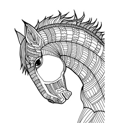 Doodle of horse vector