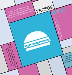 Hamburger icon sign Modern flat style for your vector image