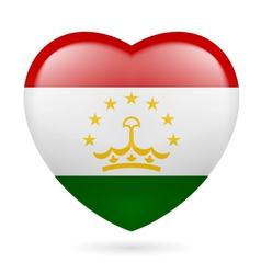 Heart icon of Tajikistan vector image
