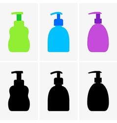 Liquid soap bottle vector image vector image