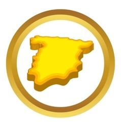 Map of Spain icon vector image