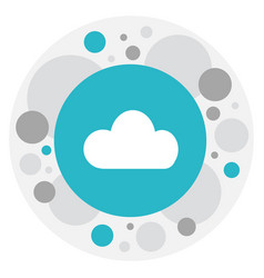 Of internet symbol on cloud vector