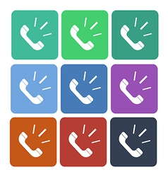 Phone call flat icon vector