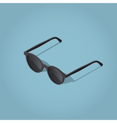 Retro dark sunglasses vector image vector image