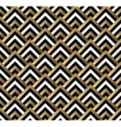 Seamless black and gold square art deco pattern vector image