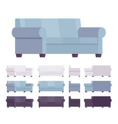 sofa interior set vector image