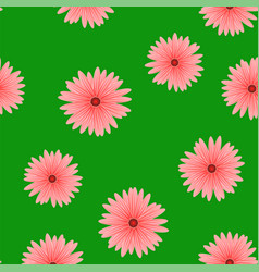Spring red flower seamless pattern vector