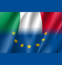 Symbol italy is eu member vector