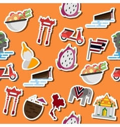Thailand flat collage vector image