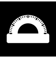 The protractor icon vector image vector image