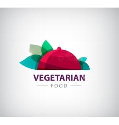 Vegetarian restaurant logo icon vector