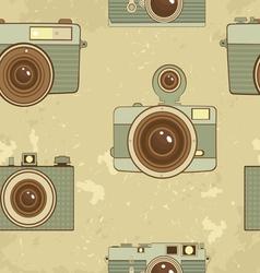 Vintage cameras pattern vector image vector image