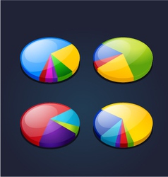 colorful set of pie graphic chart vector image