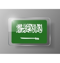 Saudi arabia flag glossy button vector