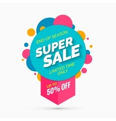 Super sale banner limited time only vector