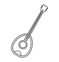 Saz traditional turkish music instrument icon vector