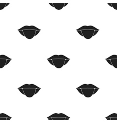 Tongue icon in black style isolated on white vector