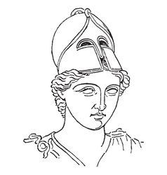 Greek centurion vintage engraving vector