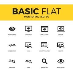 Basic set of Monitoring icons vector image