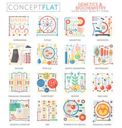 Infographics mini concept genetics biochemistry vector