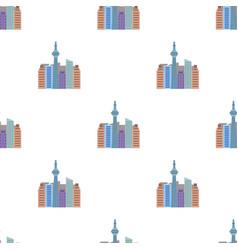 Canadian skyscraper canada single icon in cartoon vector