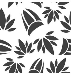 pattern in flower style vector image