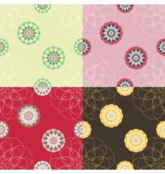 Set of abstract seamless texture vector image
