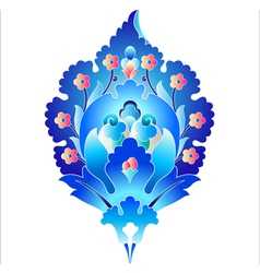 Blue oriental ottoman design forty six vector