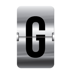 Alphabet silver flipboard letters g vector image