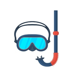 Diving goggles mask vector