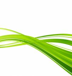 green ecology wave background template vector image