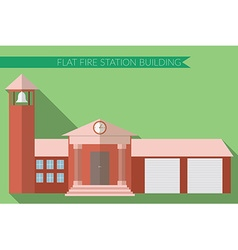 Flat design modern of fire station building icon vector