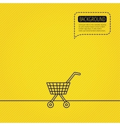 Shopping cart icon market buying sign vector