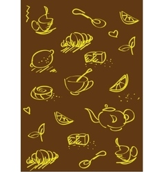 Tea st background dark brown vector