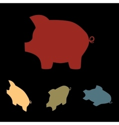 Pig money icon vector