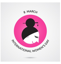 8 March International Women s Day vector image vector image