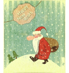 Christmas cards with Santa vector image