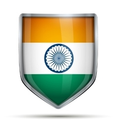 Shield with flag india vector