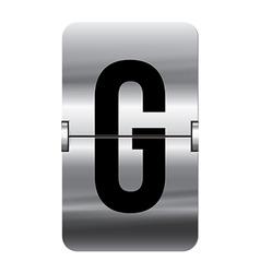 Alphabet silver flipboard letters g vector image